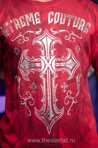 Xtreme Couture | Футболка мужская ELEVENTH HOUR X1663 от Affliction принт спереди крест