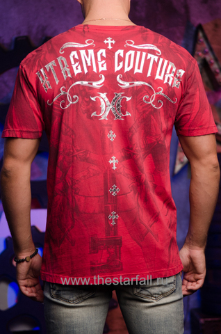 Xtreme Couture | Футболка мужская ELEVENTH HOUR X1663 от Affliction спина