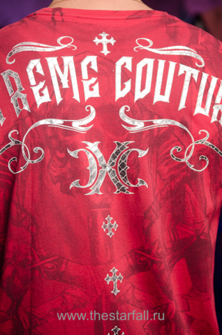 Xtreme Couture | Футболка мужская ELEVENTH HOUR X1663 от Affliction принт на спине
