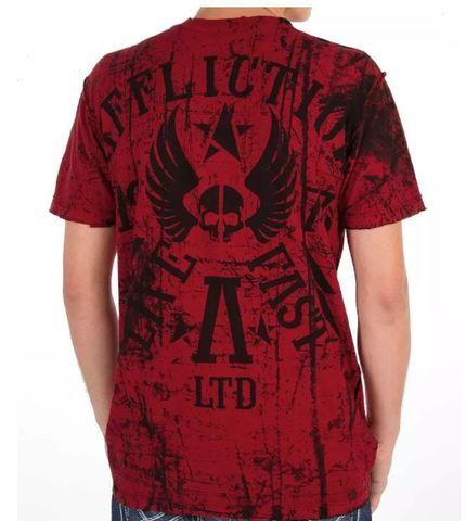 Affliction | Двусторонняя мужская футболка Primitive Reversible A5985B обратная сторона обратная сторона спина