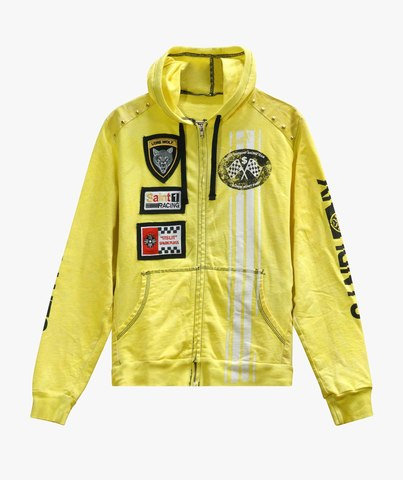 Худи The Saints Sinphony EMBROIDERED RACER FRENCH TERRY HOODED SWEATSHIRT YELLOW