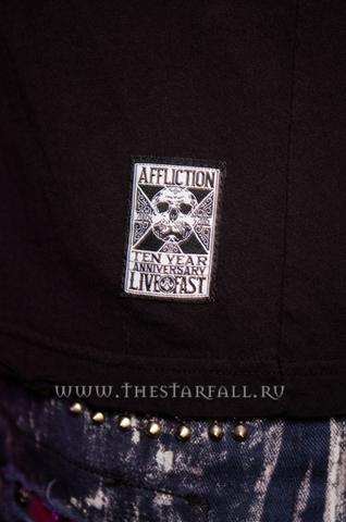Affliction | Футболка мужская Wolves Tee Ten Year Anniversary A11898 лейбл годовщина 10 лет