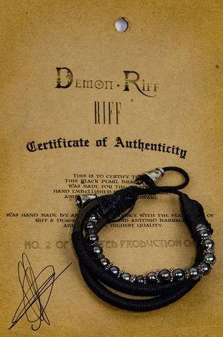 Кожаный браслет Demon Riff DR0010 с сертификатом