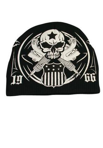 Шапка AMERICAN TRADITION BEANIE Black Rush Couture