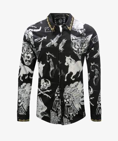 Рубашка The Saints Sinphony MULTI IMAGE WASH BLACK