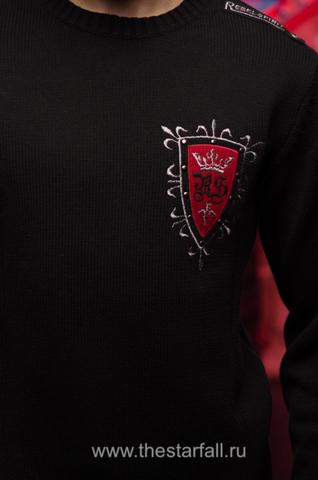 Пуловер Rebel Spirit FTZH11897BLK передняя вышивка