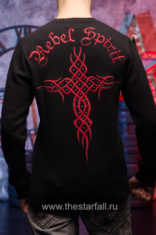 Пуловер Rebel Spirit FTZH11897BLK спина