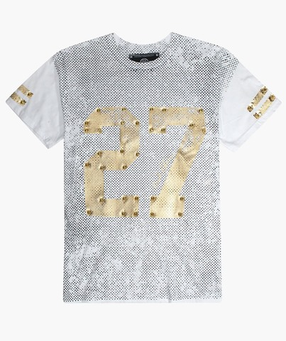 Футболка 27 JERSEY WHITE AND GOLD The Saints Sinphony