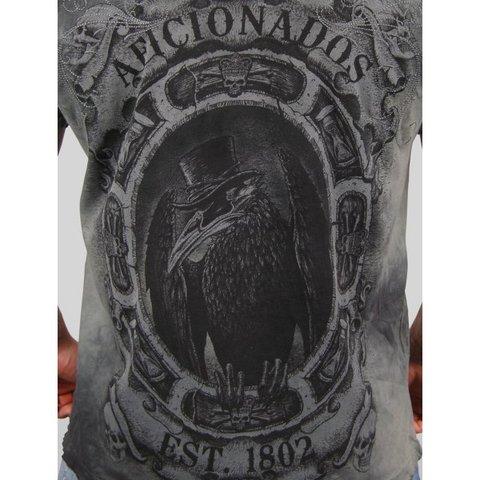 Affliction | Футболка мужская Seated Crow A1218 принт на спине ворона