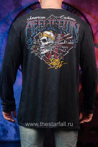 Affliction | Мужская футболка лонгслив AC WILD JACKAL A16872 спина