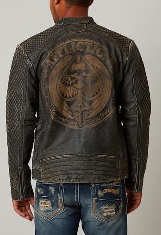 """Черная кожаная куртка """"Onyx Blade"""" от  Affliction"""