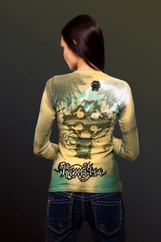 Remetee | Пуловер женский RM3066 от Affliction спина на модели