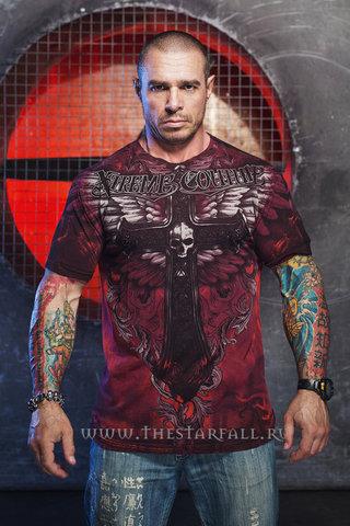 Xtreme Couture   Футболка мужская Hell Born X1383 от Affliction перед на модели