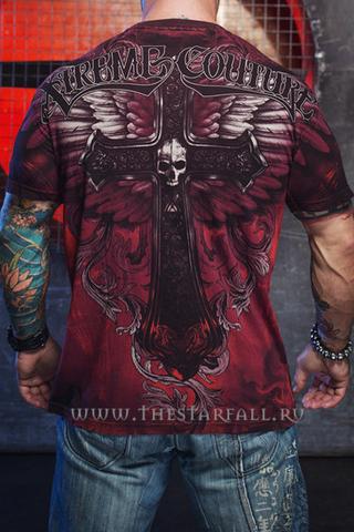 Xtreme Couture   Футболка мужская Hell Born X1383 от Affliction спина