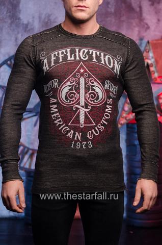 Affliction | Пуловер мужской двусторонний URSA MAJOR DUSK A20257 обратная сторона перед