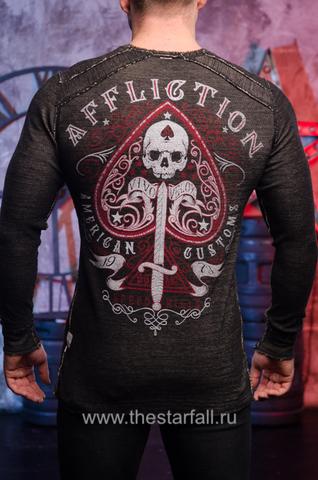 Affliction | Пуловер мужской двусторонний URSA MAJOR DUSK A20257 обратная сторона спина