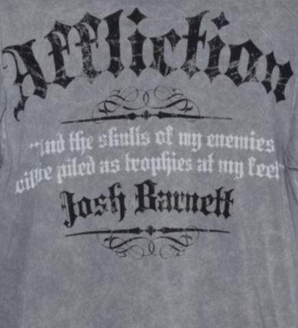 Affliction | Футболка мужская Josh Barnett A387 принт на спине