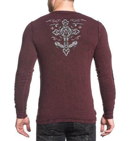 Affliction | Пуловер мужской двусторонний CHAINED EAGLE A18057 спина