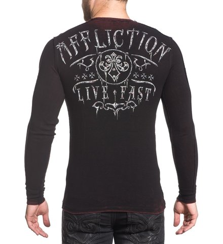 Affliction | Пуловер мужской двусторонний CHAINED EAGLE A18057 обратная сторона спина