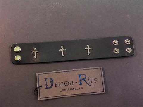 Кожаный браслет Demon Riff DR0001