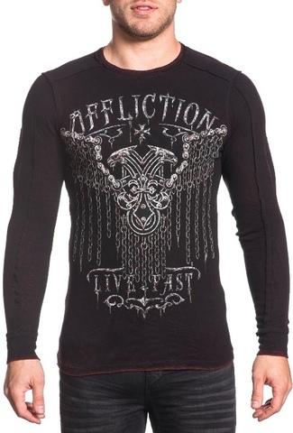 Affliction | Пуловер мужской двусторонний CHAINED EAGLE A18057 обратная сторона перед