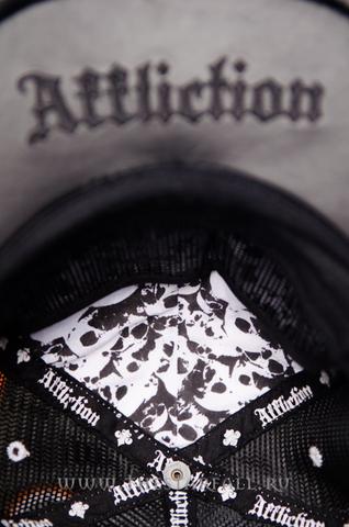 Affliction | Бейсболка Kari Barba white hat козырёк изнутри