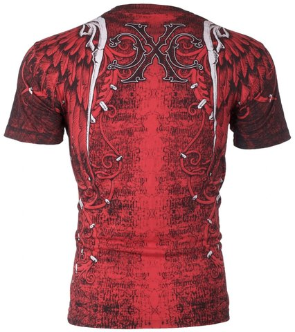 Xtreme Couture   Футболка мужская AFTERSHOCK RED X519 от Affliction спина