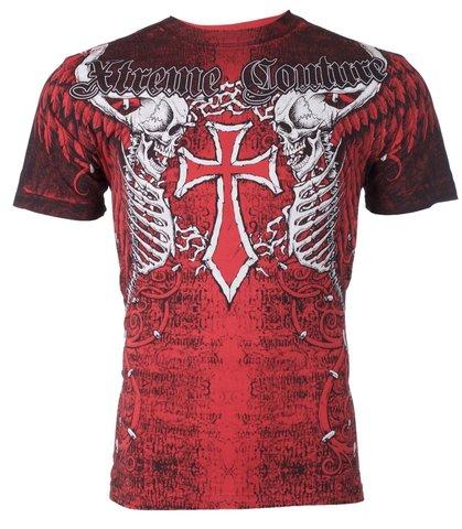 Xtreme Couture   Футболка мужская AFTERSHOCK RED X519 от Affliction перед