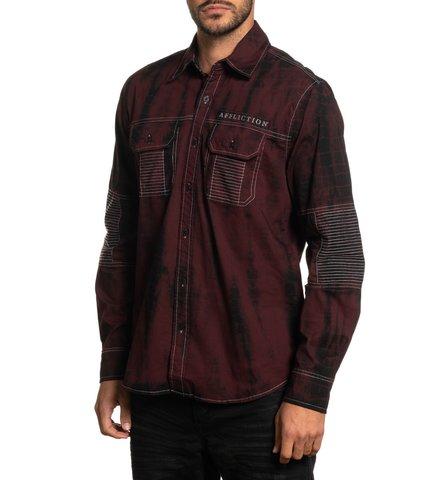 Affliction   Рубашка Banish 110WV808 с карманами левый бок