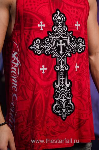 Майка Xtreme Couture от Affliction X226815 принт спереди крест