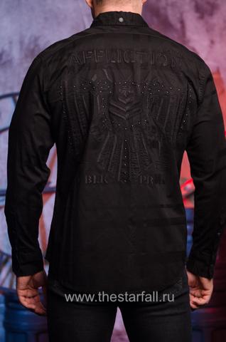 """Черная мужская рубашка """"UNDERTAKE"""" Affliction"""