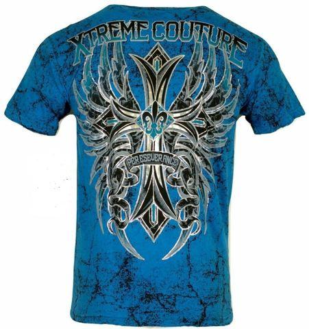 Xtreme Couture | Футболка мужская WANTED MAN X1482 от Affliction спина