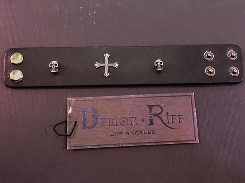 Кожаный браслет Demon Riff DR0002