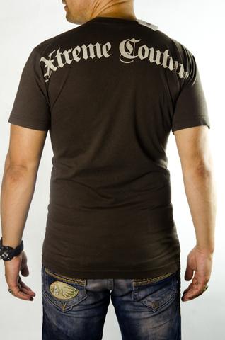 Xtreme Couture | Футболка мужская Bandana Brown X36BN от Affliction спина