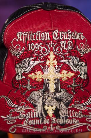 Affliction | Бейсболка Crusader вышивка спереди крест