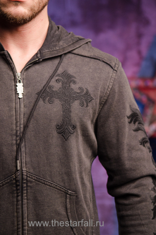 Rebel Spirit | Худи мужское FTZH111193 передняя вышивка крест