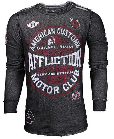 Affliction | Пуловер мужской двусторонний Cast Into A11876 обратная сторона перед