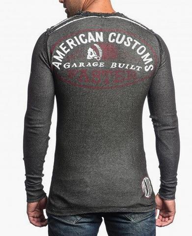 Affliction | Пуловер мужской двусторонний Cast Into A11876 обратная сторона спина на модели