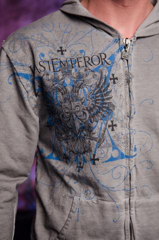 Affliction   Худи мужское Fedor Last Emperor A227010 принт спереди двуглавый орёл
