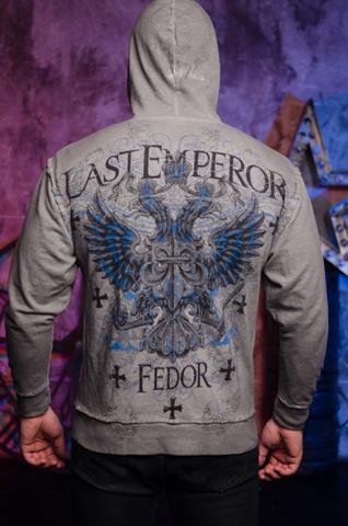 Affliction   Худи мужское Fedor Last Emperor A227010 спина на модели