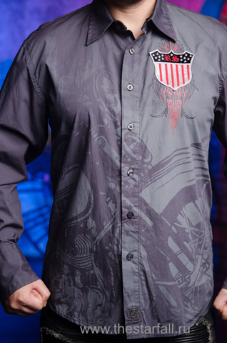 Рубашка Rebel Spirit LSW121392 принт спереди