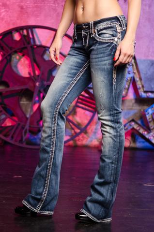 Rock Revival   Джинсы женские JAELIN B200 BOOT CUT JEAN RP2506B200 левый бок