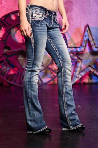 Rock Revival   Джинсы женские JAELIN B200 BOOT CUT JEAN RP2506B200 правый бок