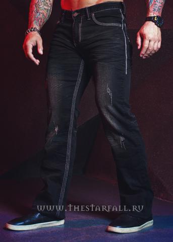 Affliction | Джинсы мужские BLAKE FLEUR NF SPRINGFIELD 110RS269 левый бок