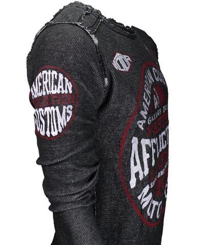 Affliction | Пуловер мужской двусторонний Cast Into A11876 обратная сторона рукав