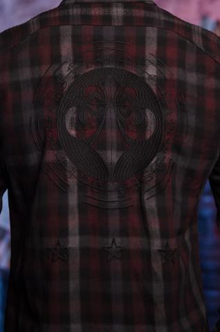 Affliction   Рубашка мужская MOGUL 110WV764 вышивка на спина