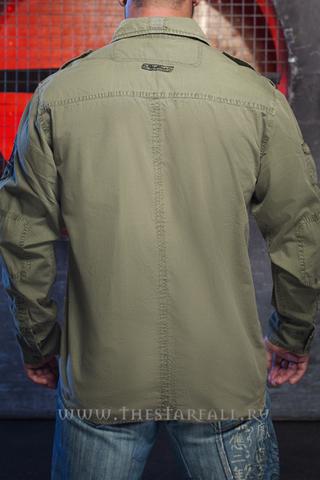 Рубашка Rebel Spirit LSW111100 спина на модели