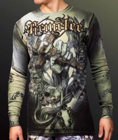 Remetee | Пуловер мужской RM134 от Affliction принт спереди крест
