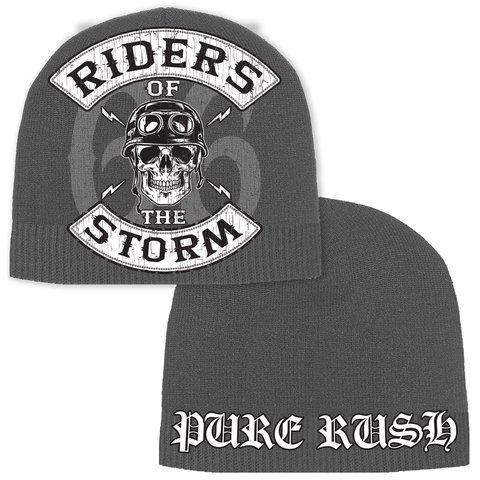 Шапка RIDER OF THE STORM BEANIE Grey Rush Couture