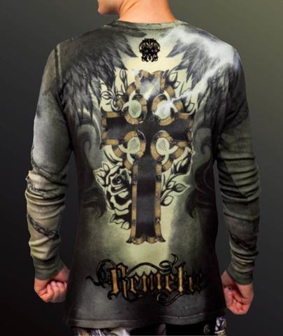 Remetee | Пуловер мужской RM134 от Affliction сзади